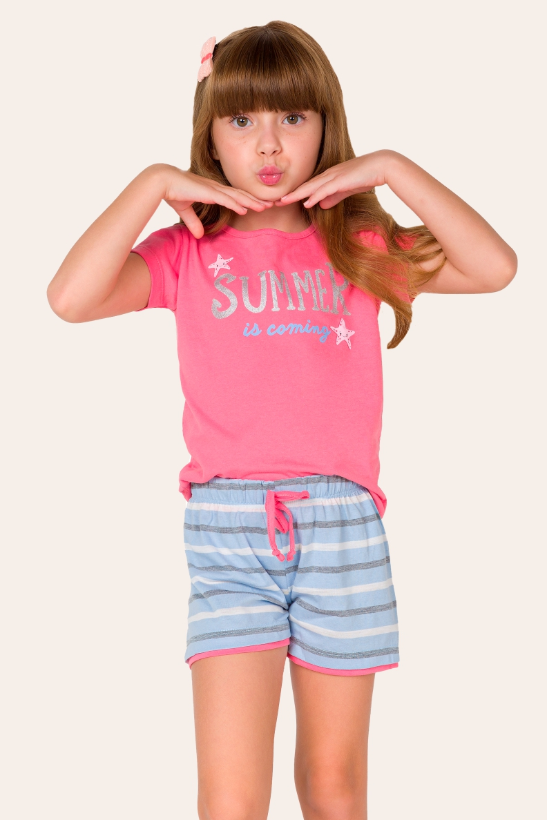 037/C - Pijama Infantil Feminino Summer