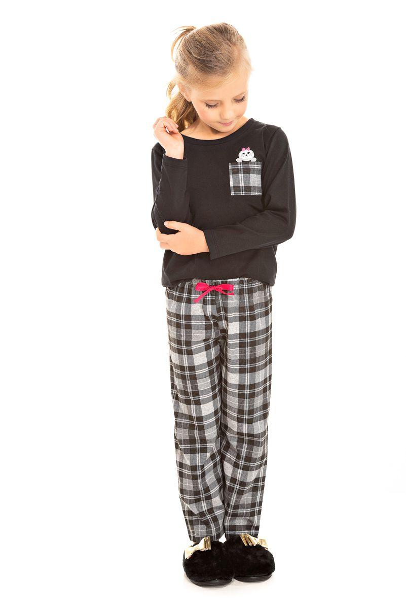 Pijama Infantil Feminino Xadrez