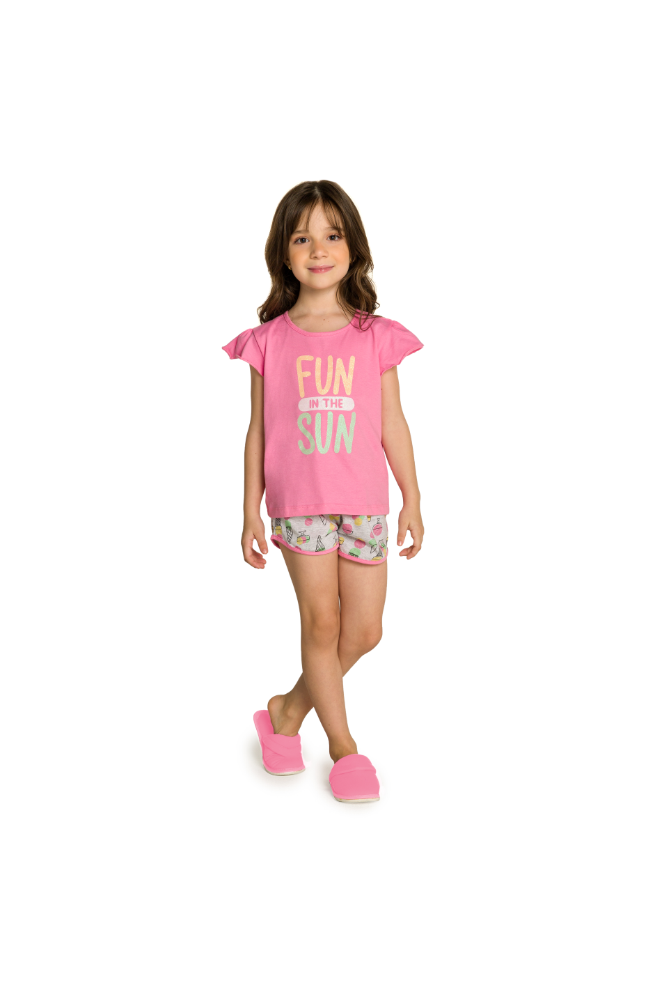009/D - Pijama Infantil Feminino Fun In The Sun
