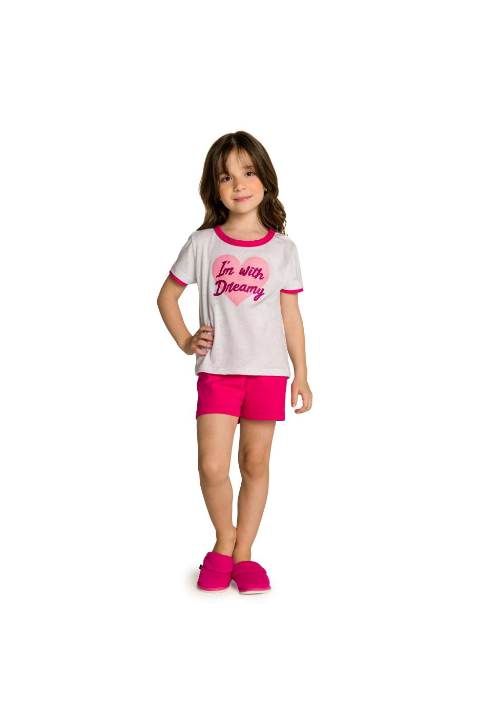 005/H - Pijama Infantil Feminino I'm With Dreamy