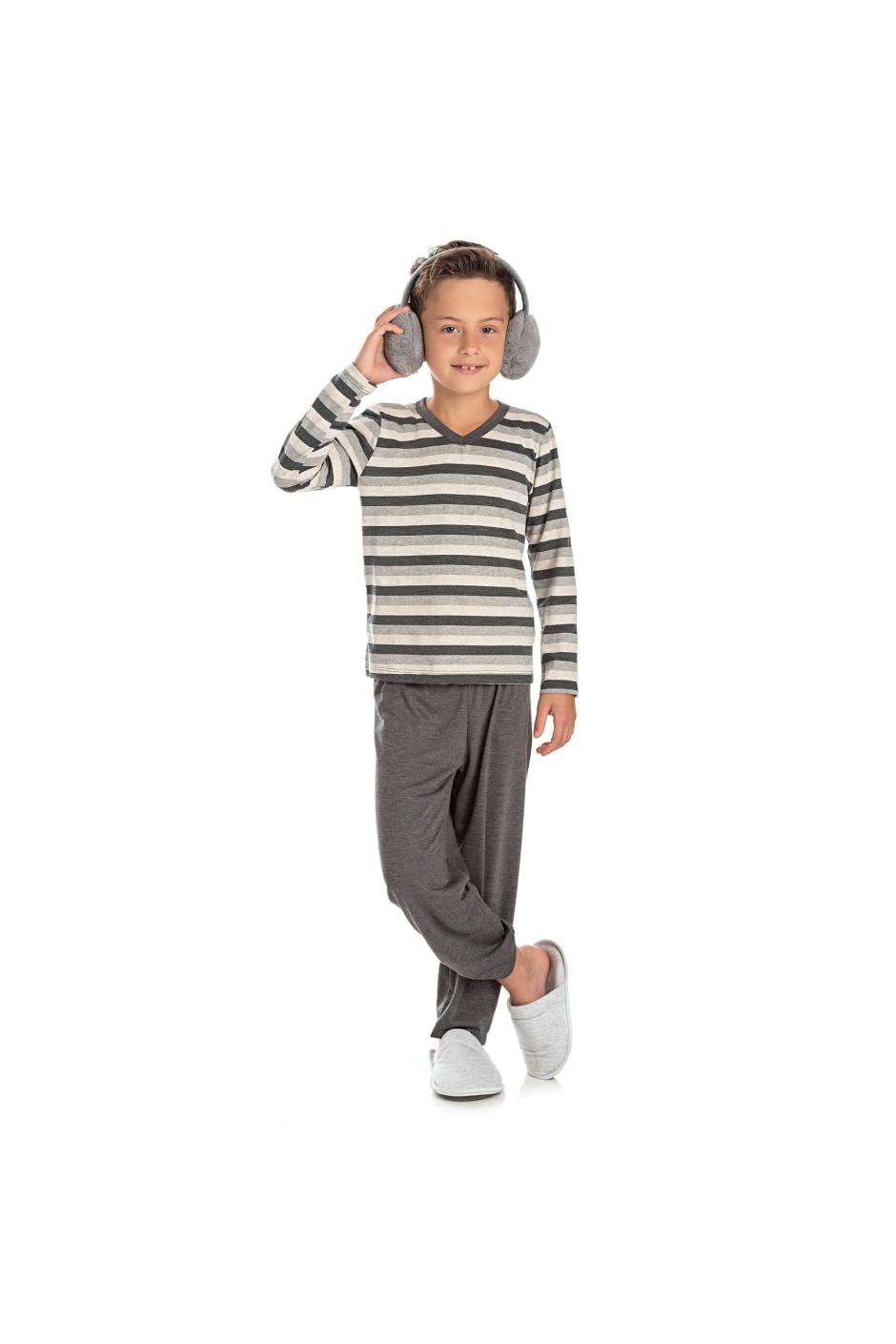 014/C - Pijama Infantil Masculino Listrado