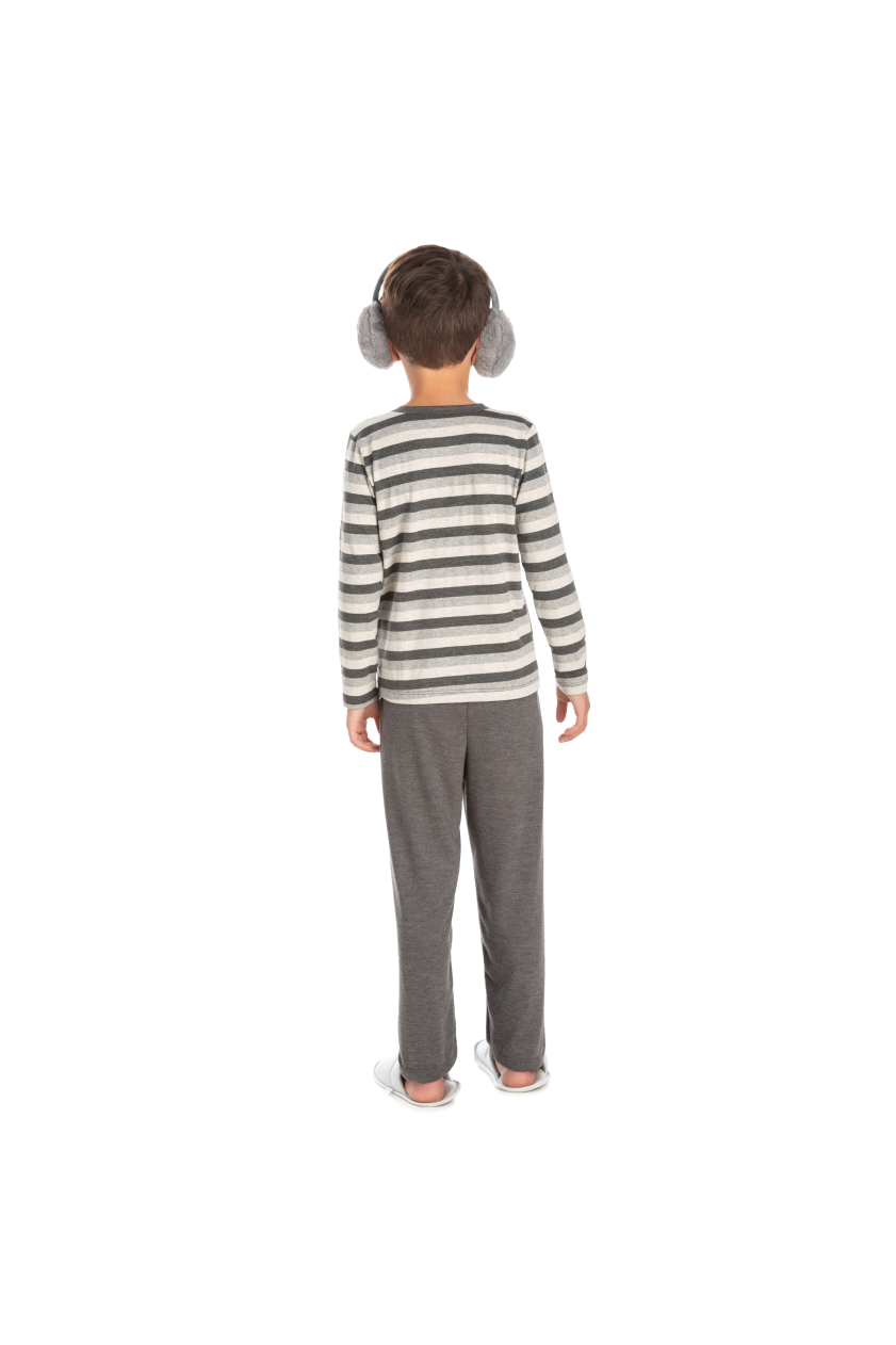 024/C - Pijama Infantil Masculino Listrado