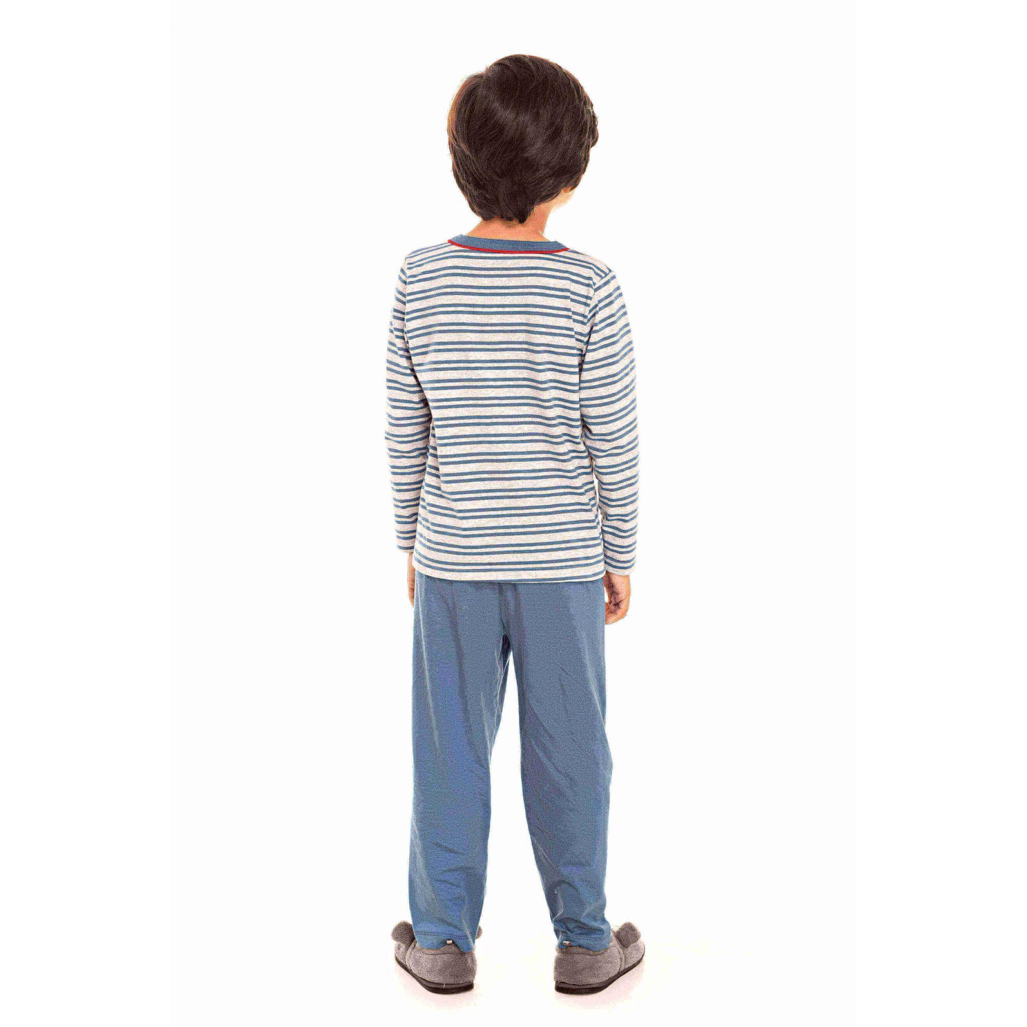 Pijama Infantil Masculino Azul Tal Pai, Tal Filho