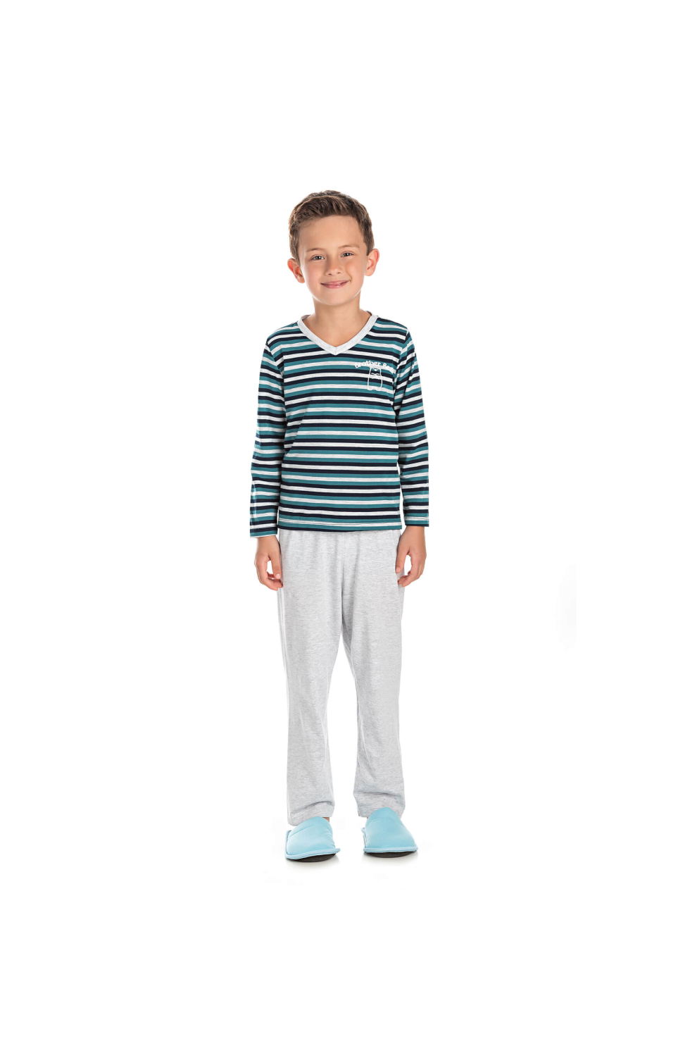 007/F - Pijama Infantil Masculino Brother Bear