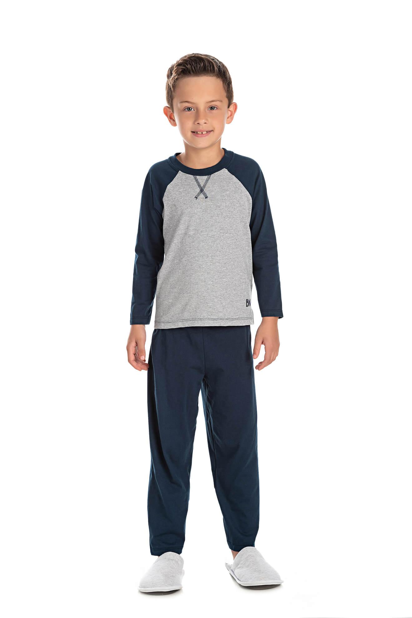 002/C- Pijama Infantil Masculino com Aplique Termocolante