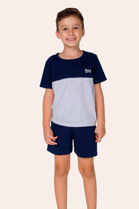 011/C- Pijama Infantil Masculino com Recorte