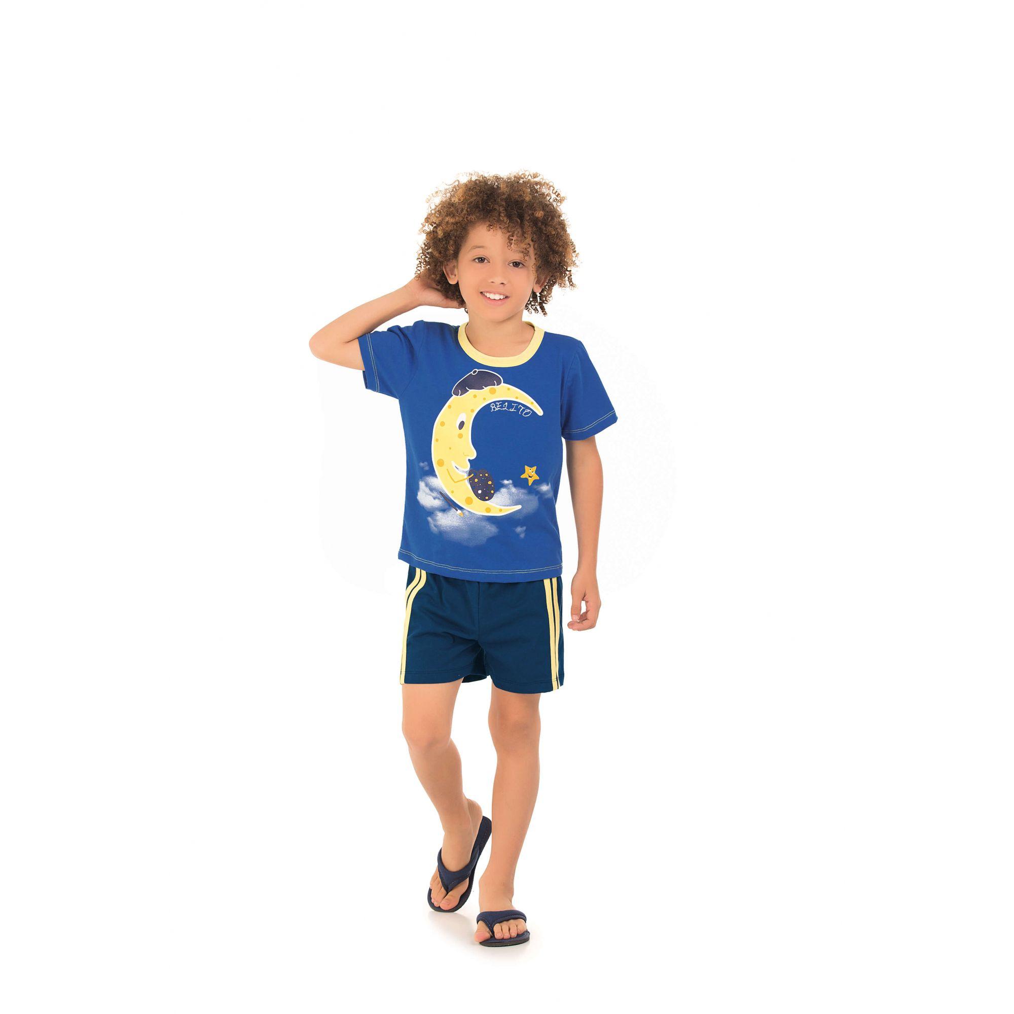 Pijama Infantil Masculino Curto Belito - Royal