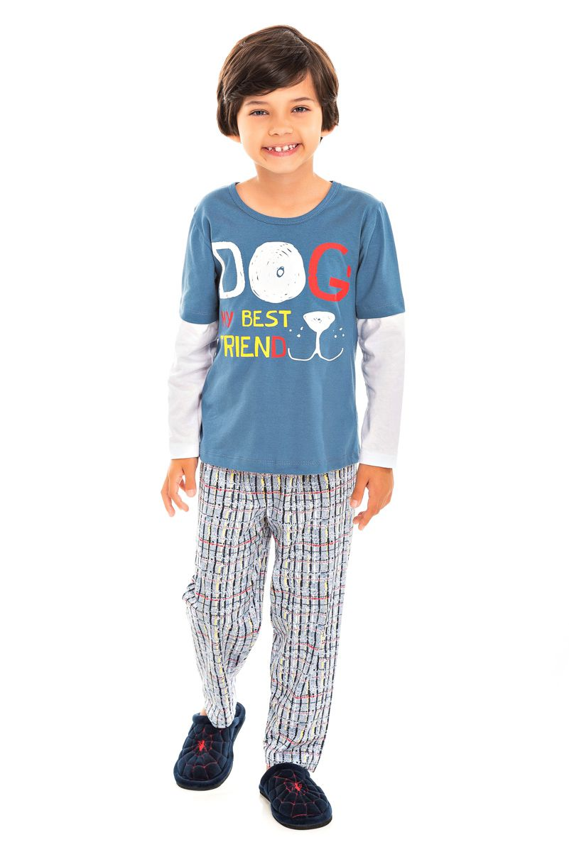 Pijama Infantil Masculino Dog
