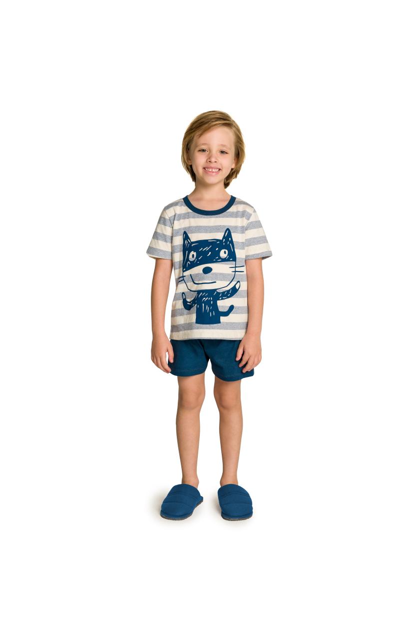 020/F - Pijama Infantil Masculino Familia Cats