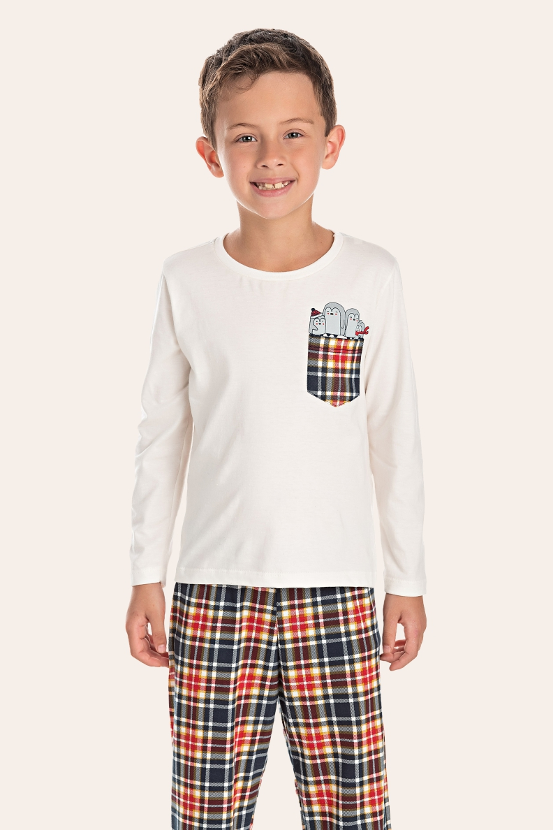 002/F - Pijama Infantil Masculino Happy Family