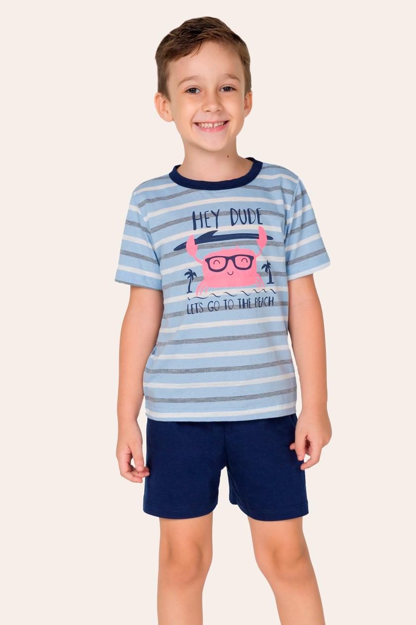 037/F - Pijama Infantil Masculino Hey Dude - Família Summer