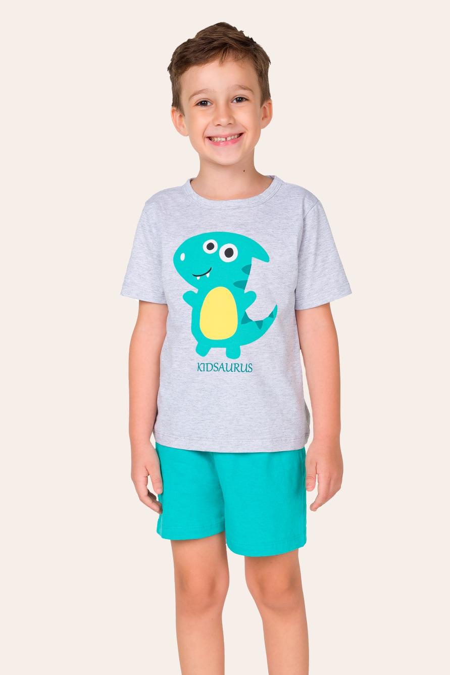 017/F - Pijama Infantil Masculino Kidsaurus - Família