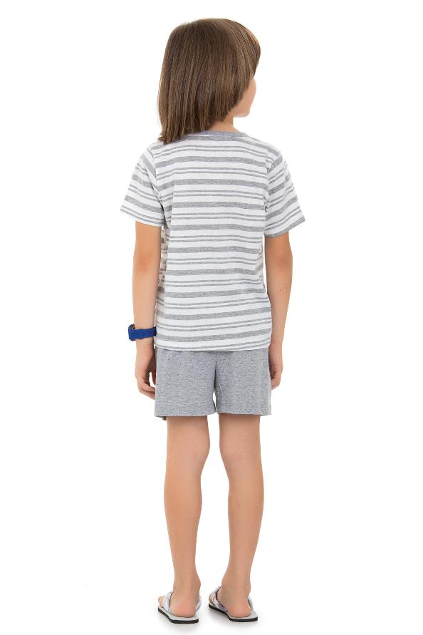 Pijama  Infantil Masculino Listras Mescla