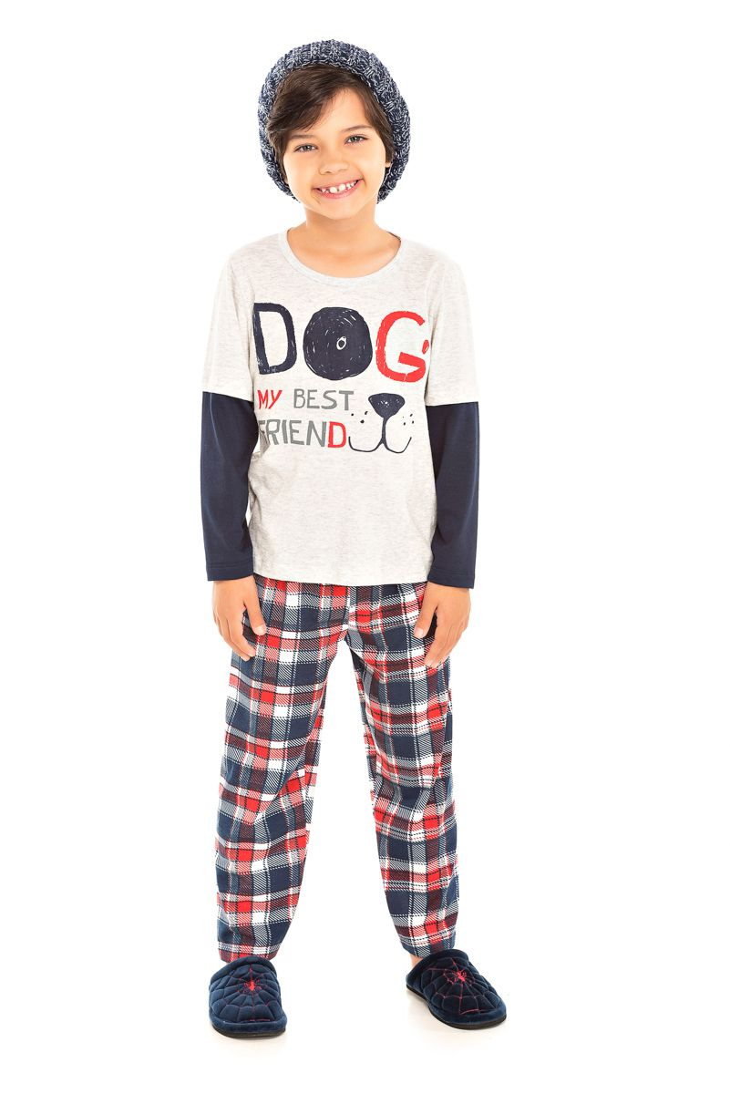 092/F - Pijama Infantil Masculino My Best Friend