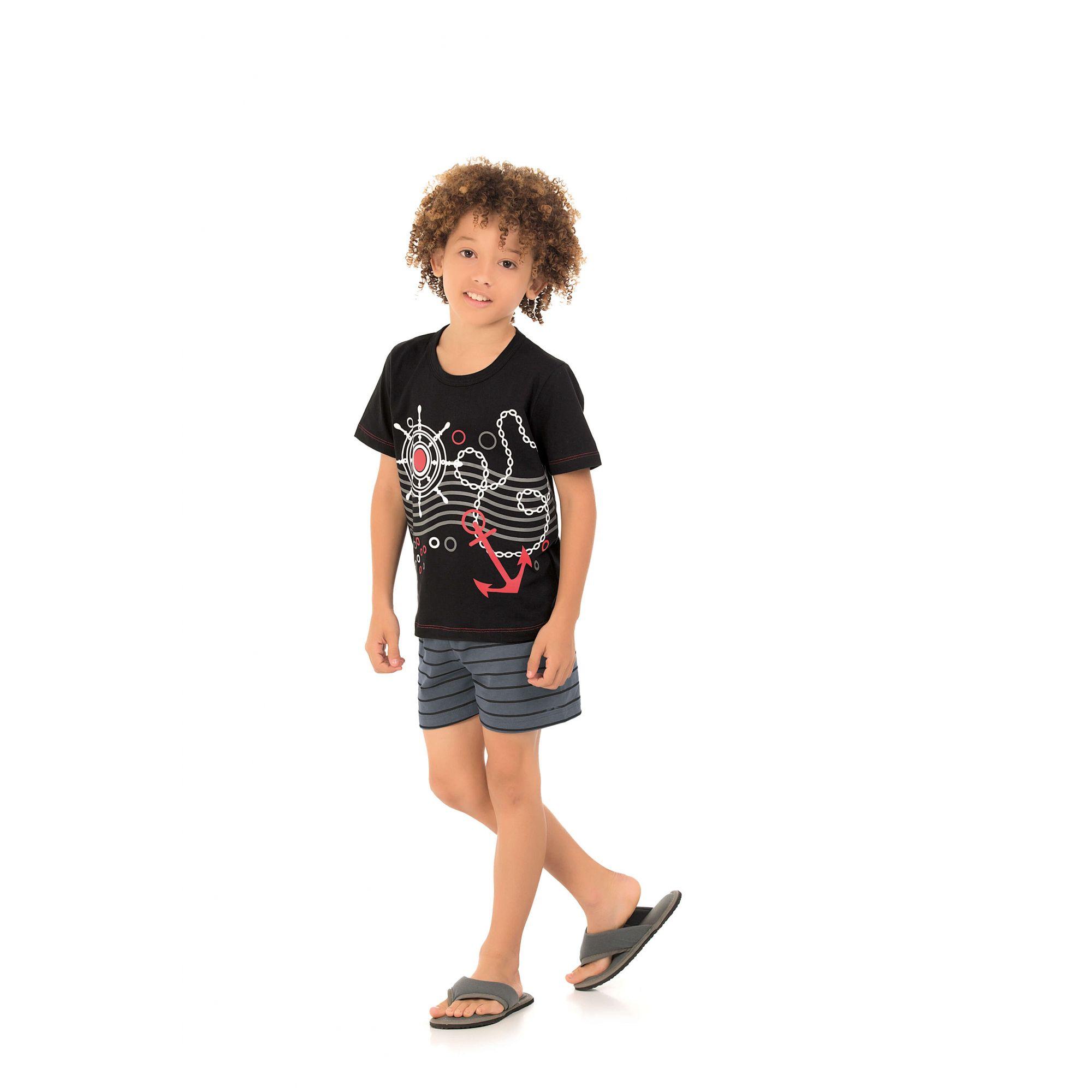 Pijama Infantil Masculino Náutico - Família
