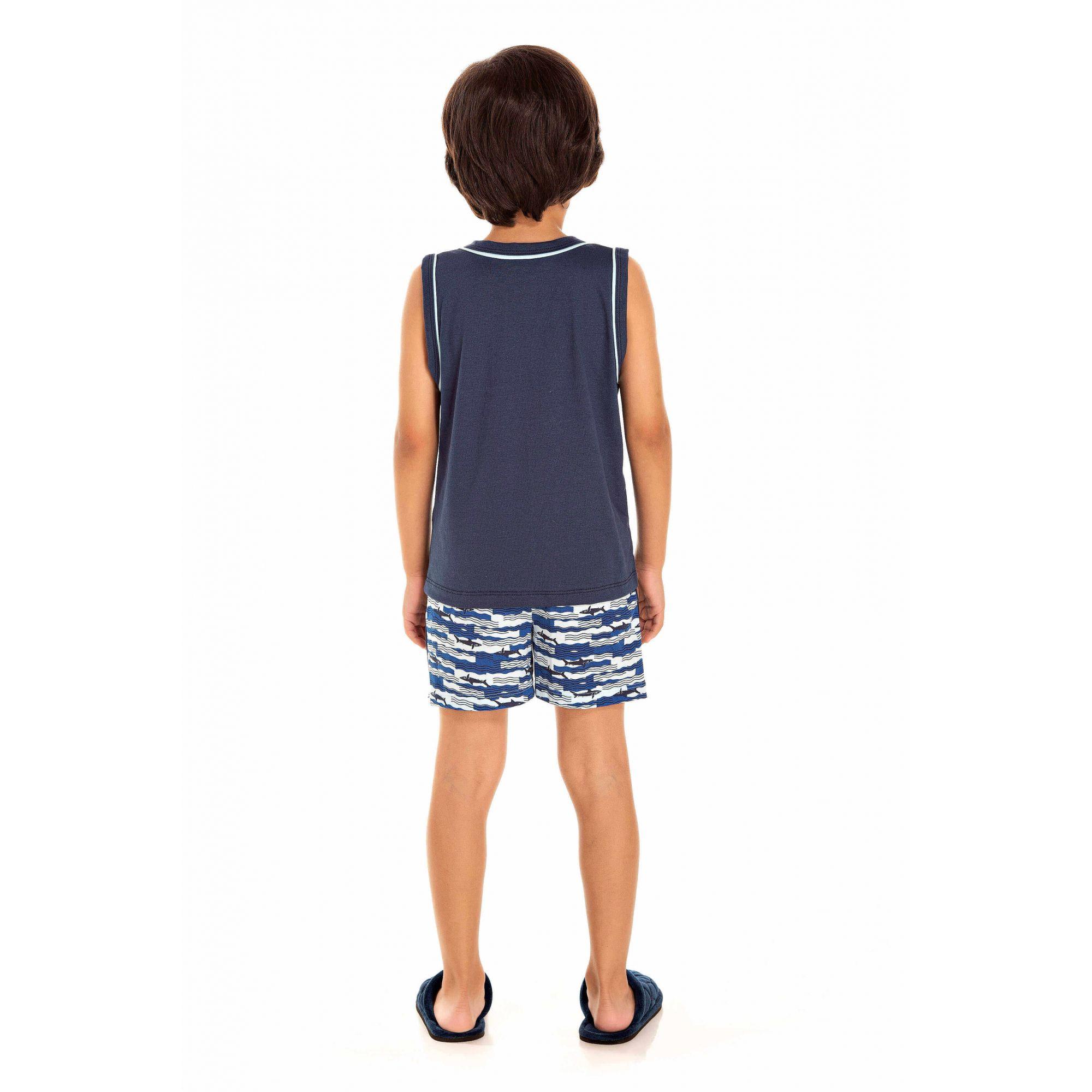102/E - Pijama Infantil Masculino Shark Attack
