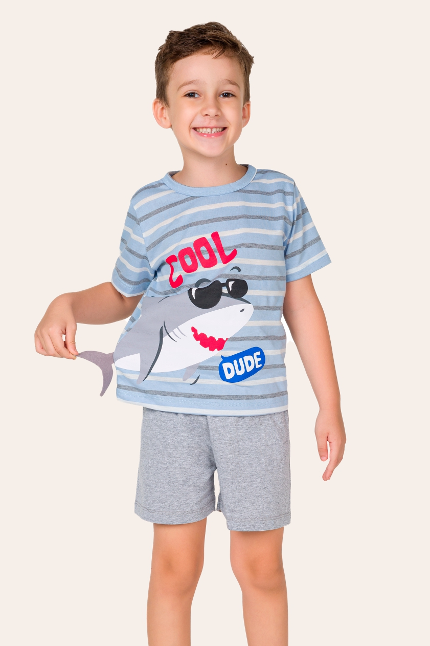 007/G - Pijama Infantil Masculino Tubarão Cool