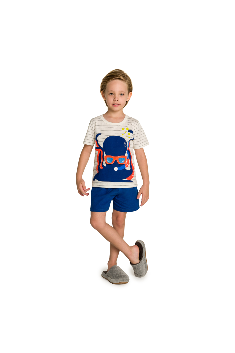 010/G - Pijama Infantil Polvo com Óculos Interativo