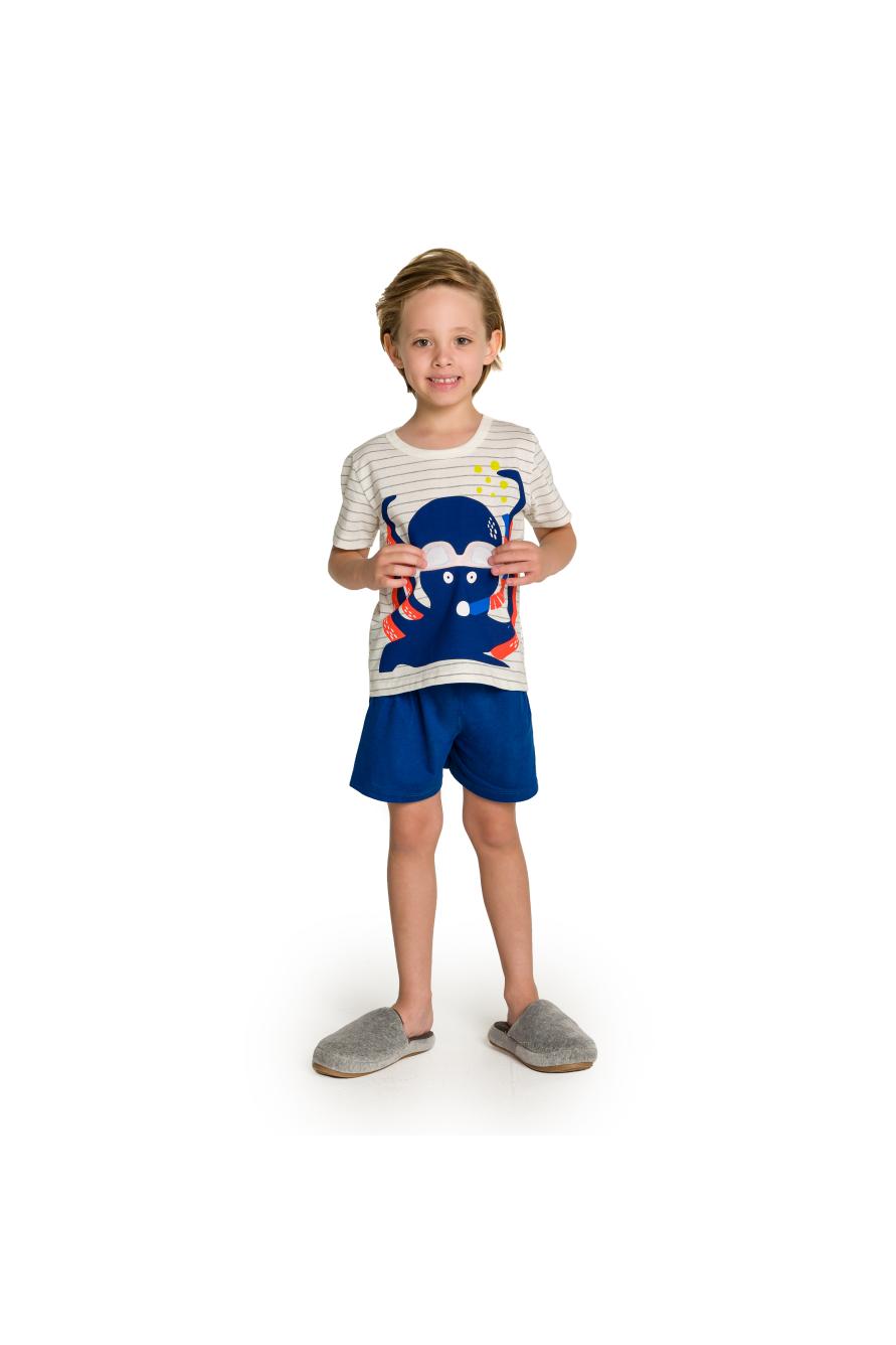 039/H - Pijama Infantil Polvo com Óculos Interativo