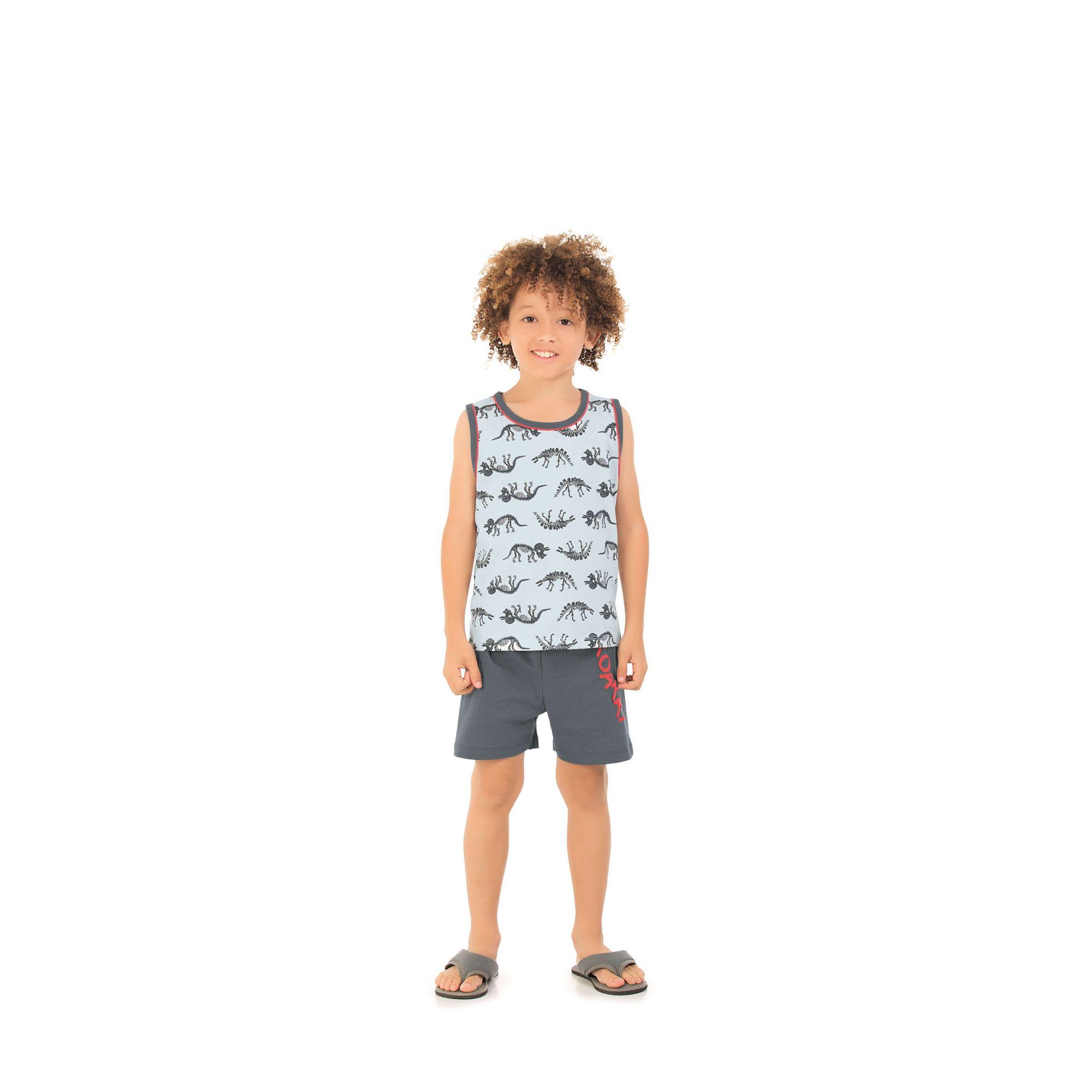 Pijama Infantil Regata Dinossauro