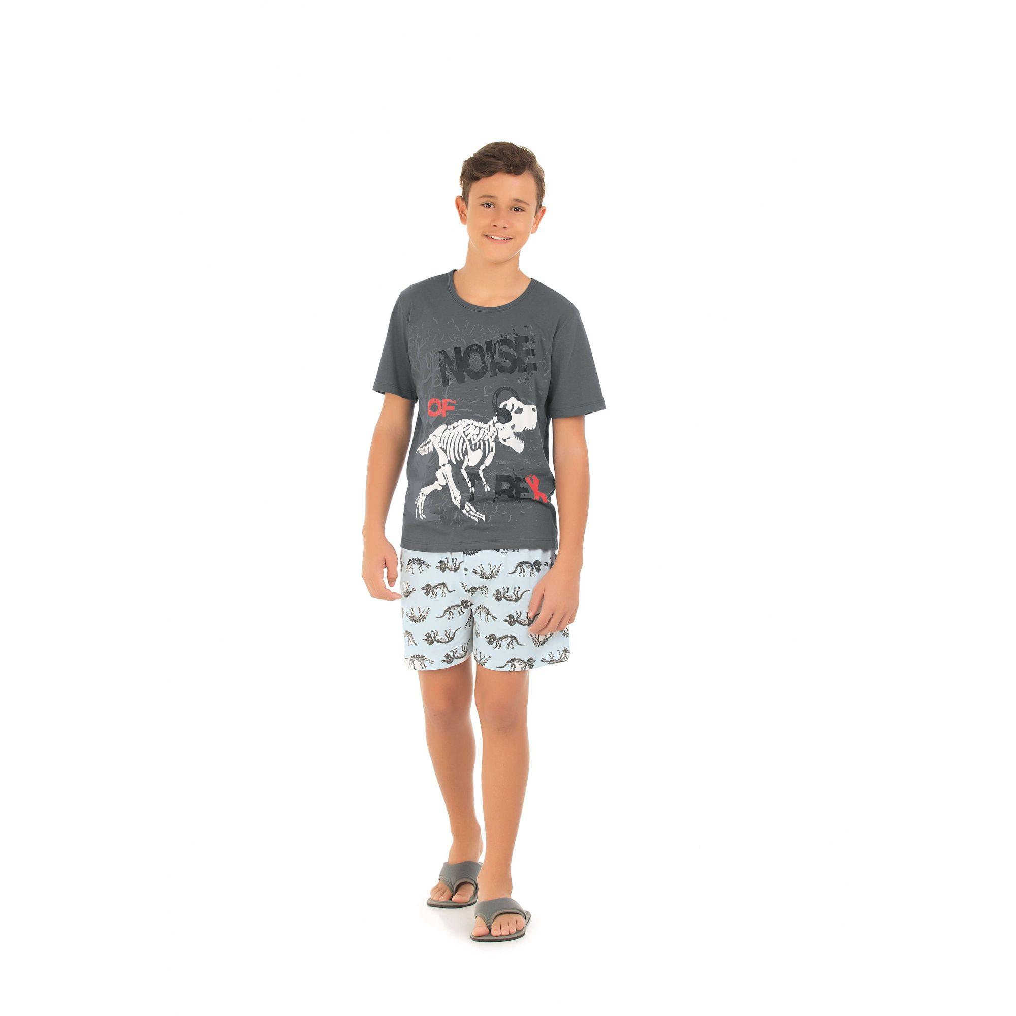 Pijama Juvenil Curto - Chumbo