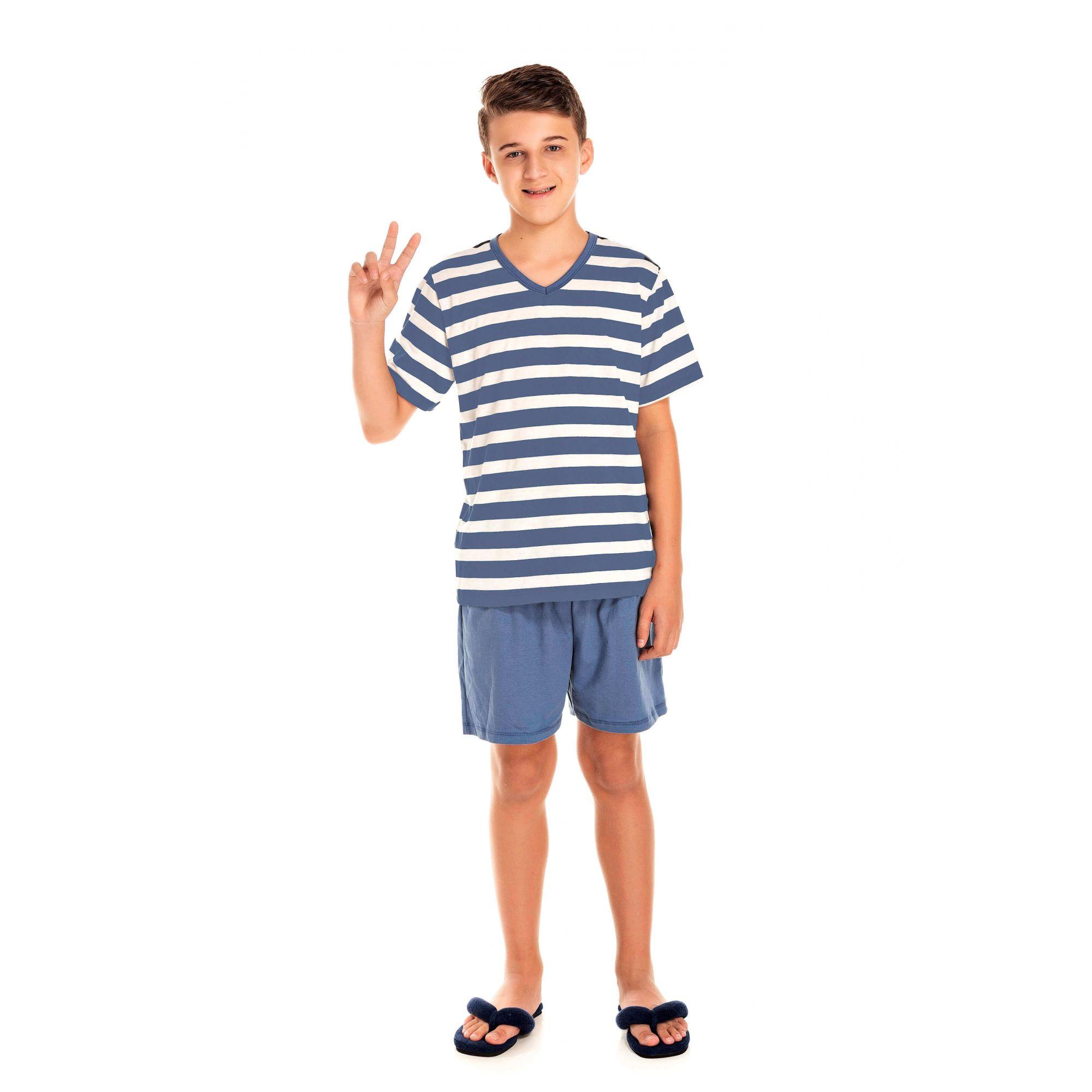 043 - Pijama Juvenil Curto - Pai e Filho