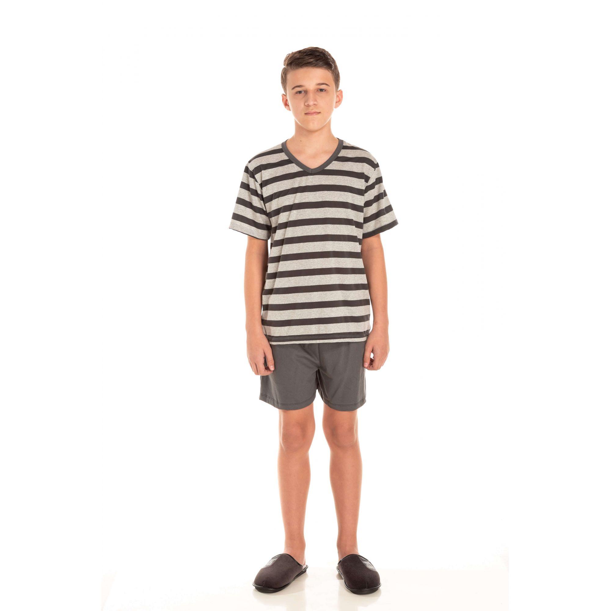 102/B - Pijama Juvenil Curto - Pai e Filho