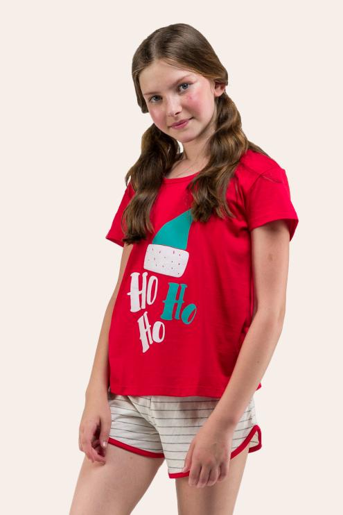 180/B - Pijama De Natal Para Família - Juvenil Feminino