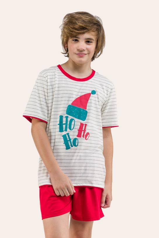 138/C - Pijama De Natal Para Família - Juvenil Masculino