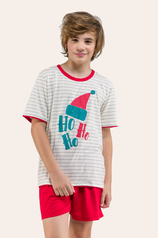 001/E - Pijama De Natal Para Família - Juvenil Masculino