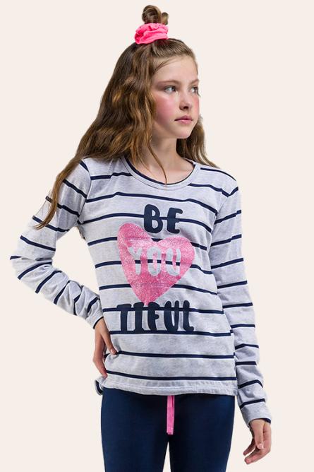 010/B - Pijama Juvenil Feminino BE YOU TIFUL