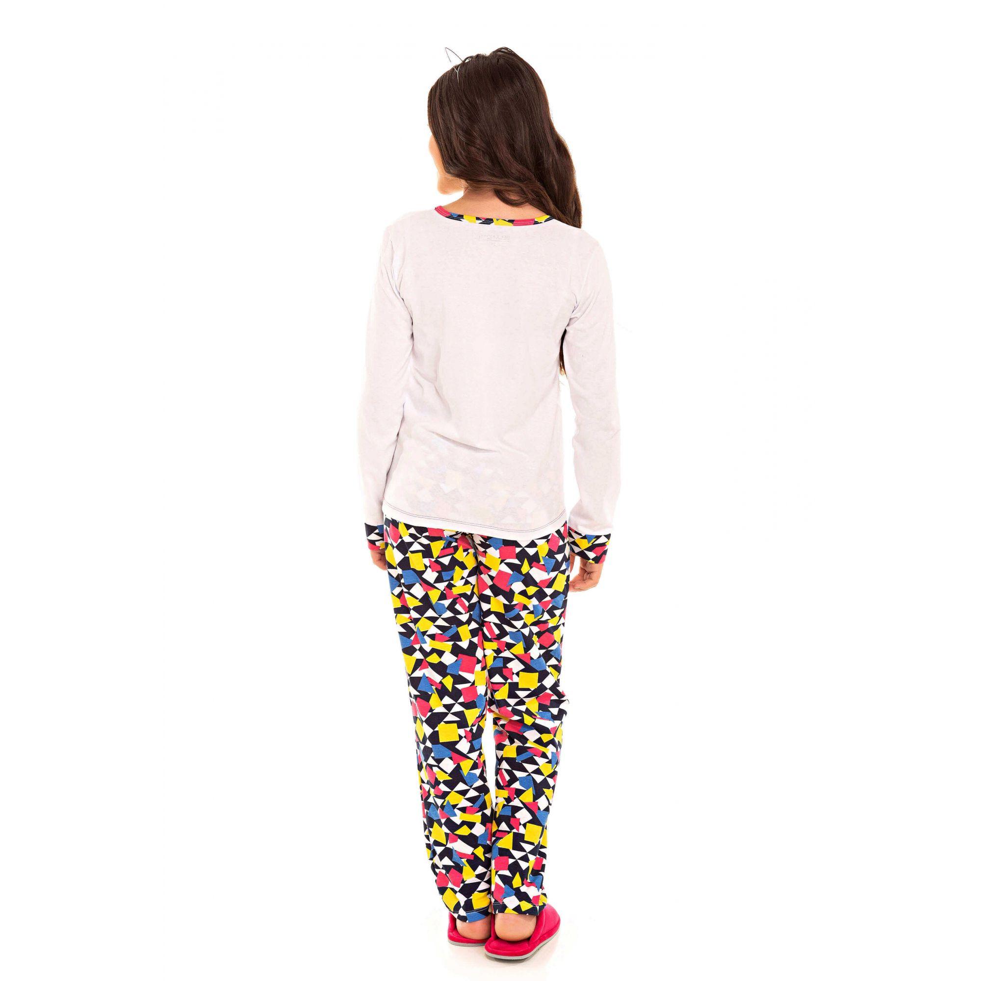 Pijama Juvenil Feminino Belita Colorido