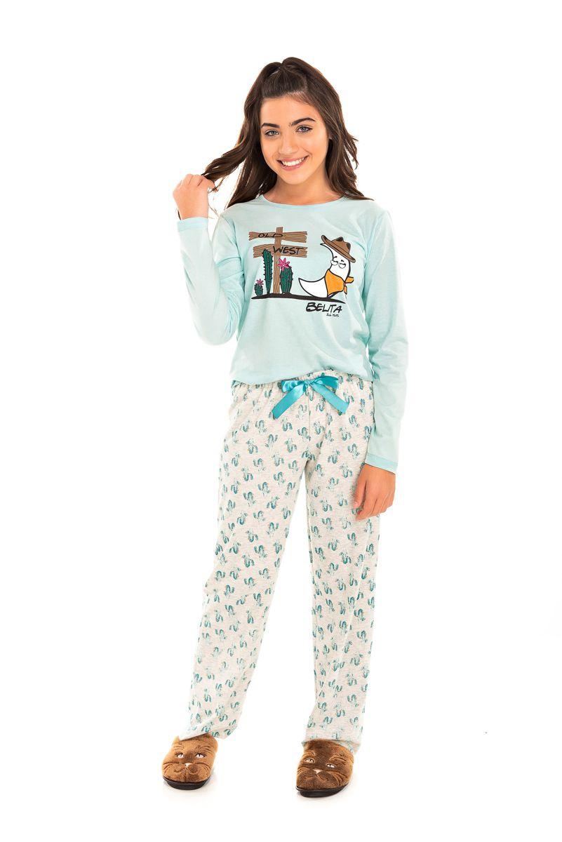 Pijama Juvenil Feminino Belita Old West
