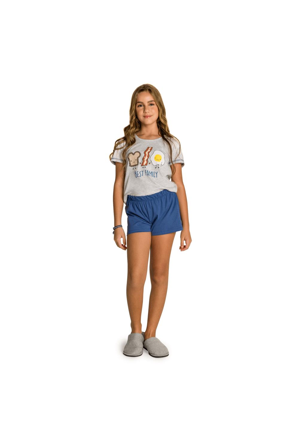 001/K - Pijama Juvenil Feminino Best Family
