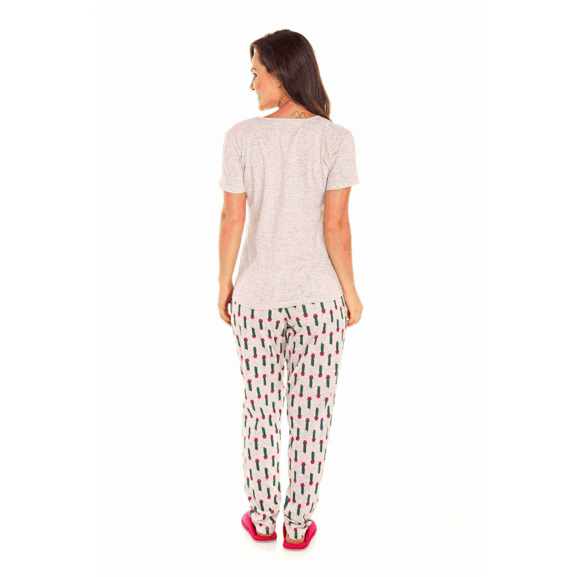 Pijama Juvenil Feminino Cactos