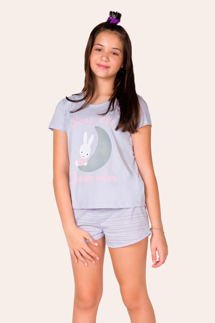009/E - Pijama Juvenil Feminino Dream More