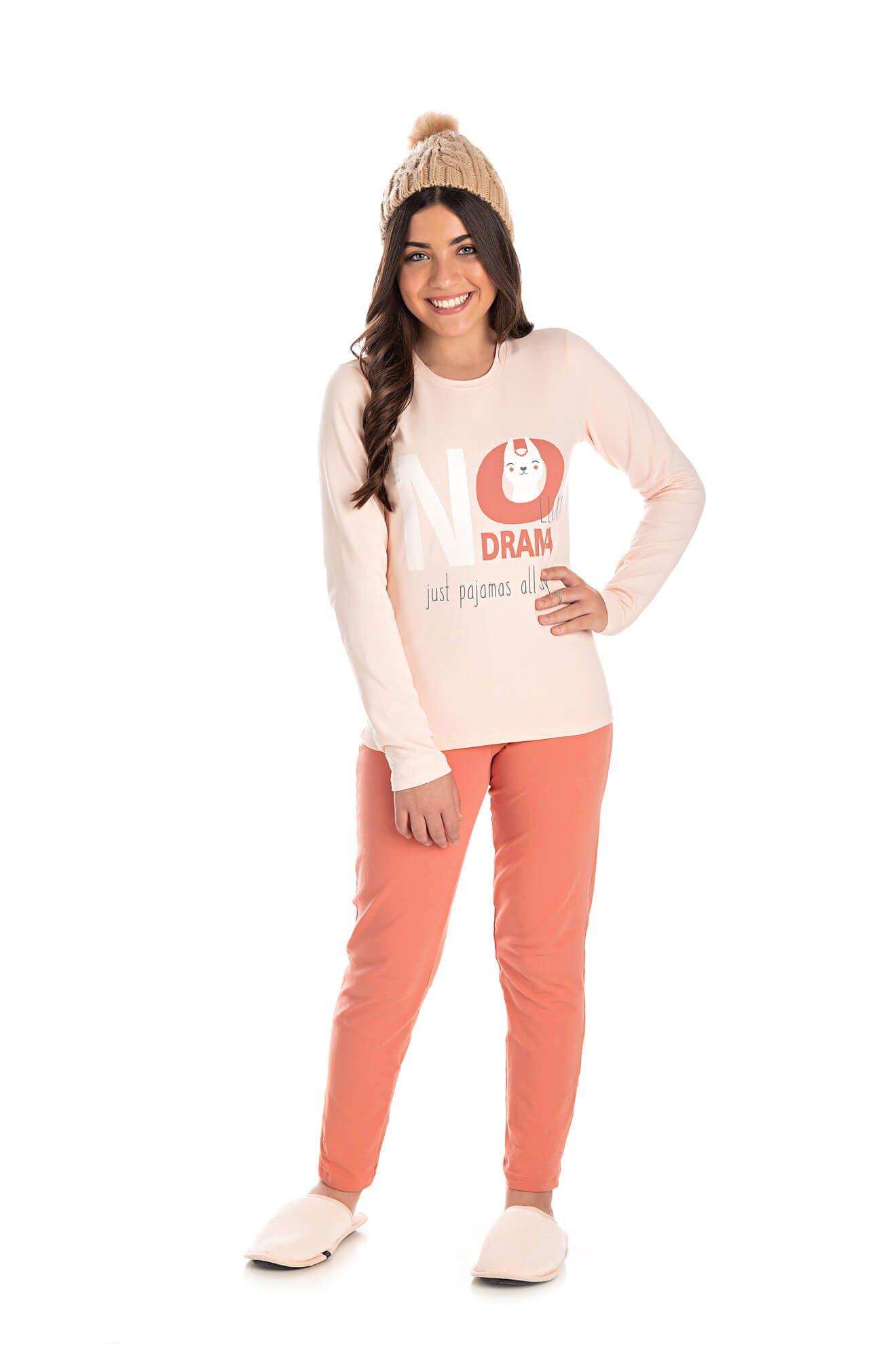 001/B - Pijama Juvenil Feminino LLAMA