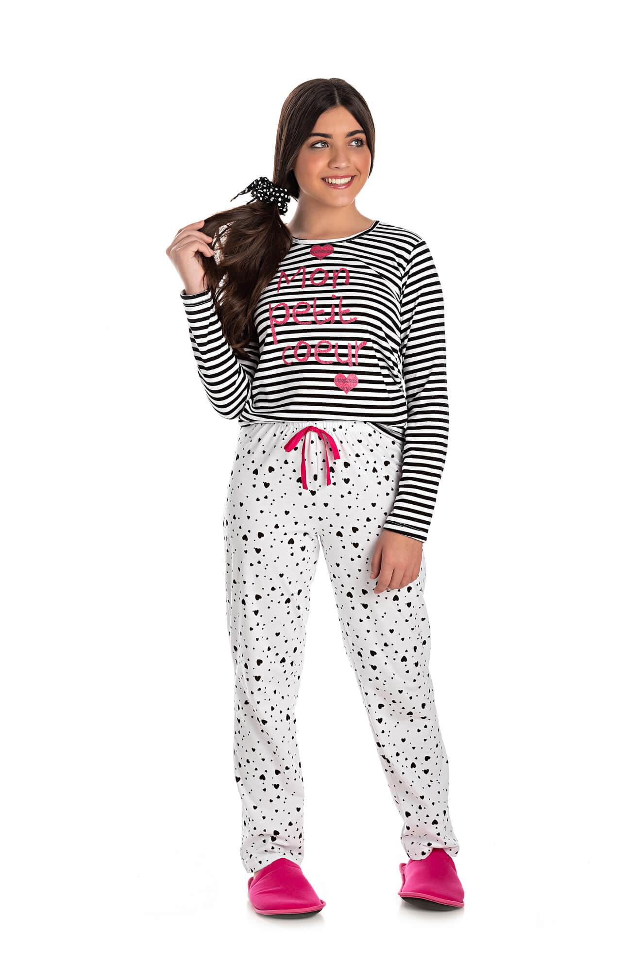 008/B - Pijama Juvenil Feminino Mon Petit Coeur