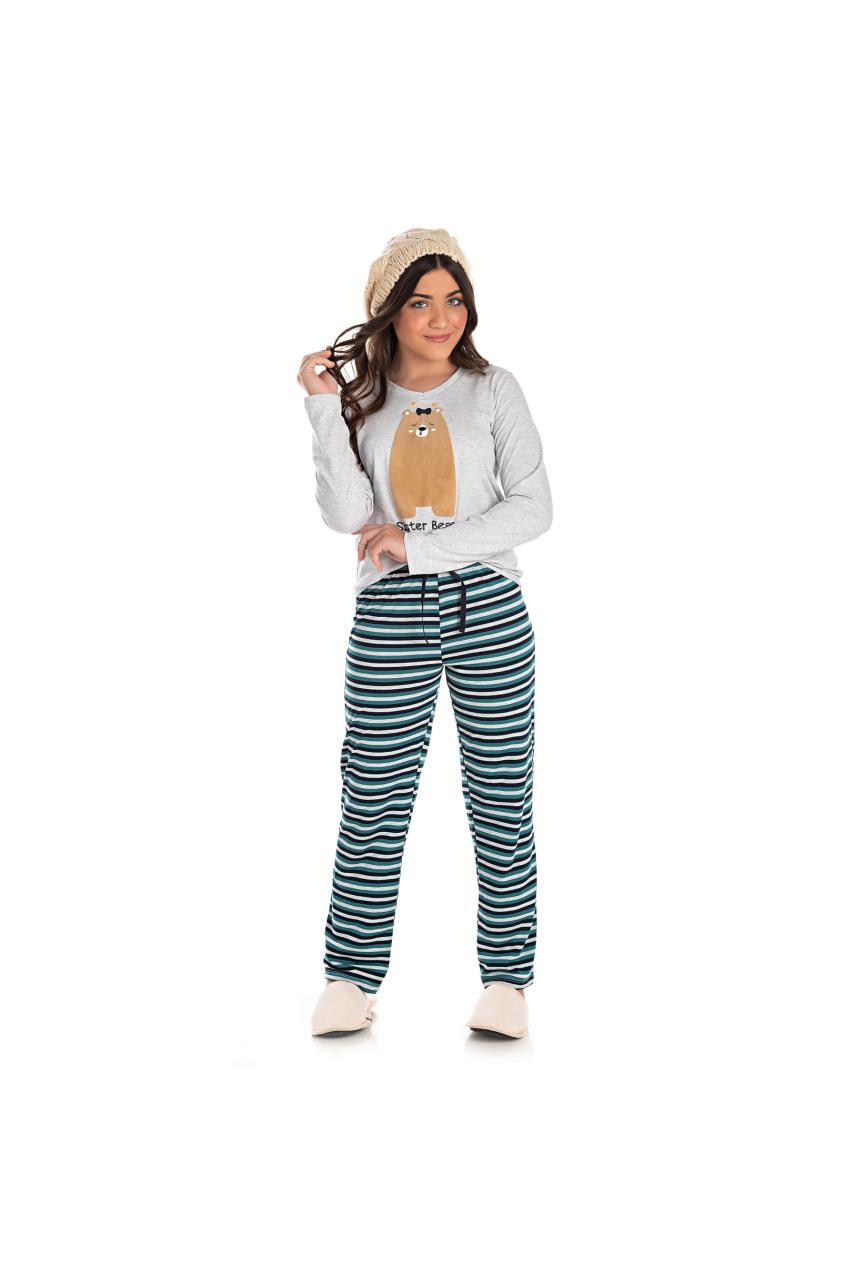 007/B - Pijama Juvenil Feminino Sister Bear