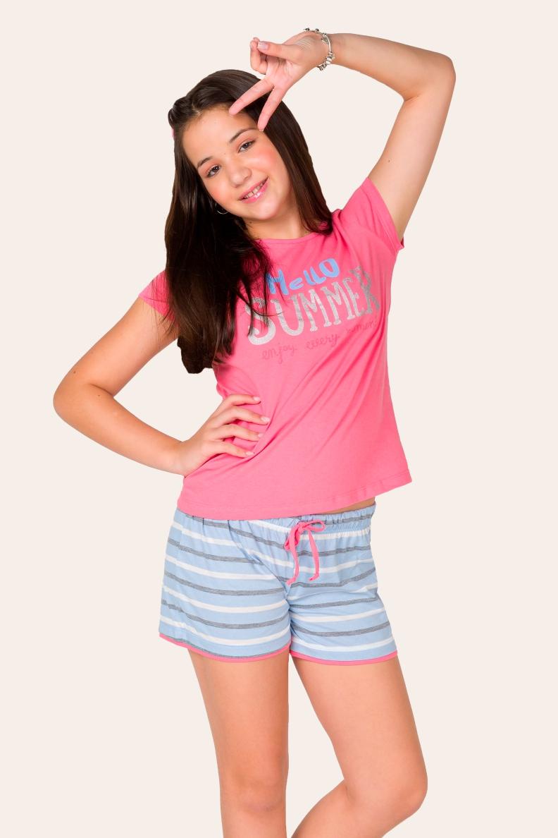 037/B - Pijama Juvenil Feminino Summer