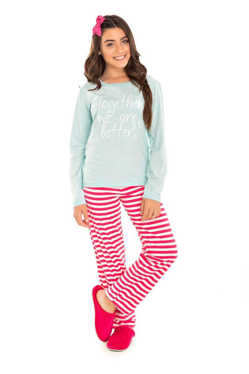 Pijama Juvenil Feminino Togheher  We  Are Letters