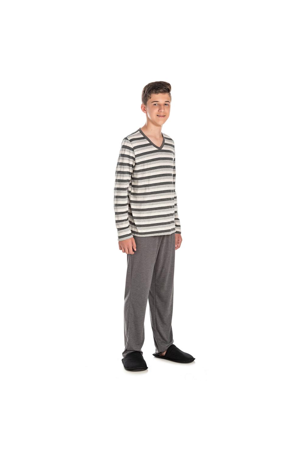 014/B - Pijama Juvenil Masculino Listrado