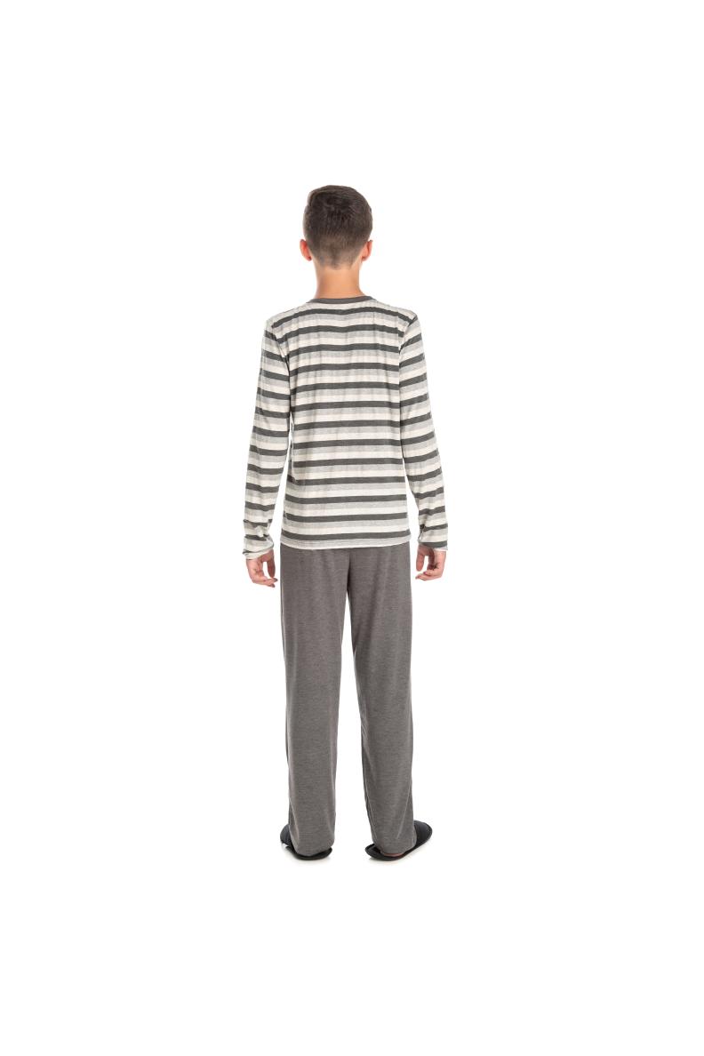 225/B - Pijama Juvenil Masculino Listrado