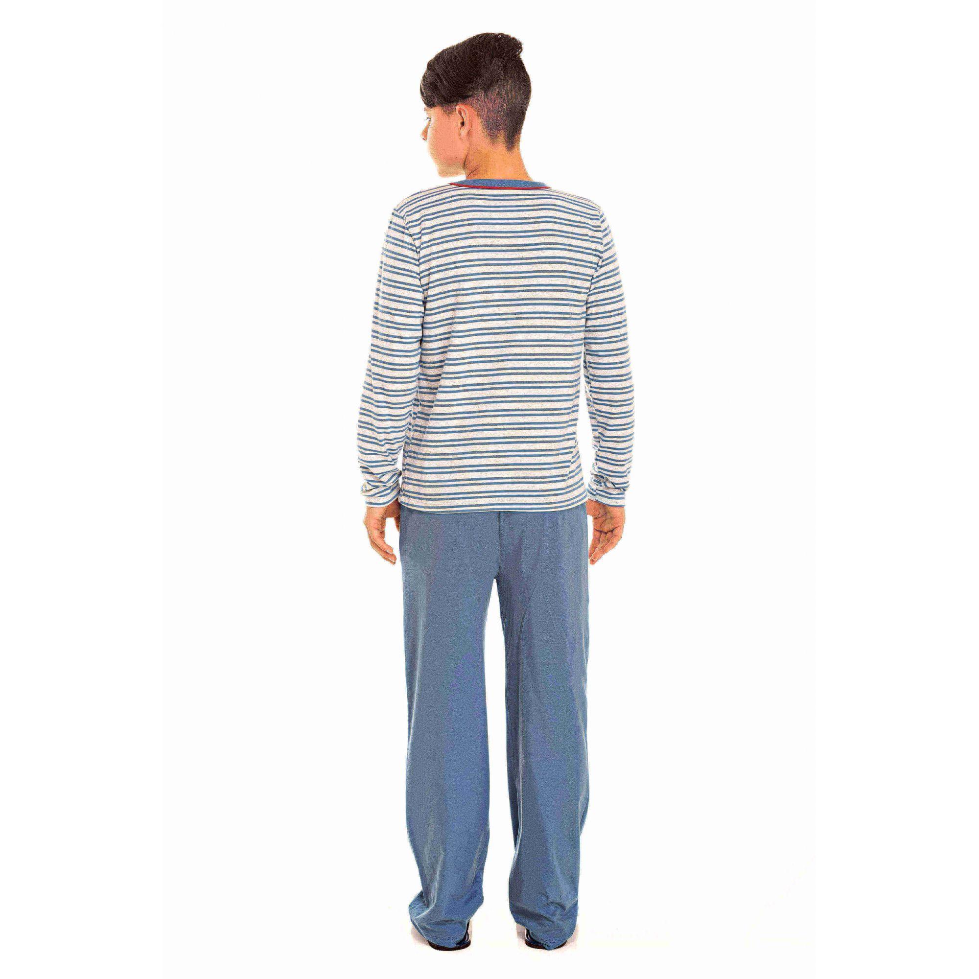 Pijama Juvenil Masculino Azul Tal Pai, Tal Filho