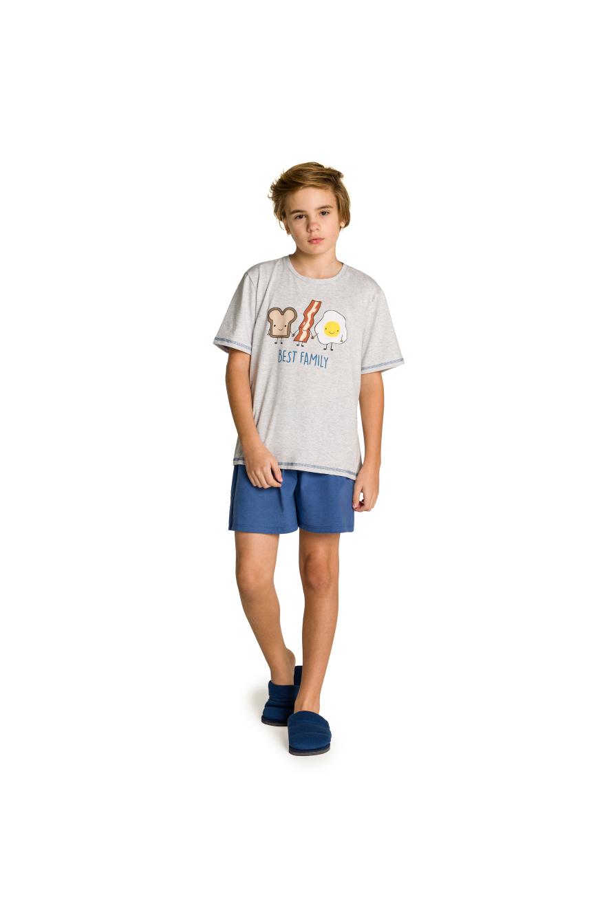001/N - Pijama Juvenil Masculino Best Family