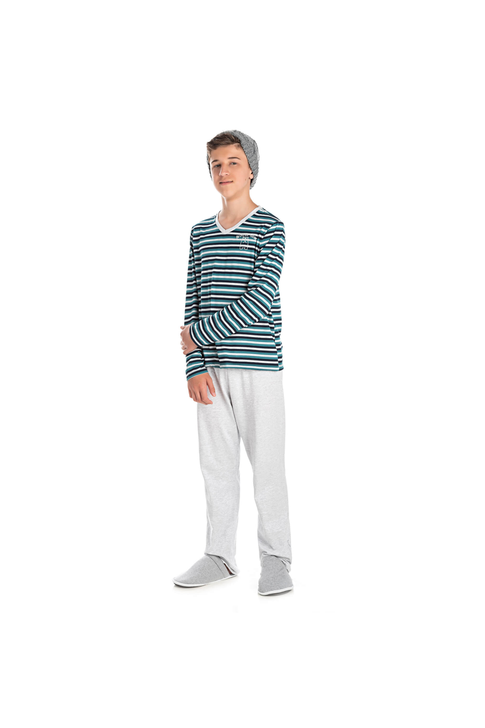 007/E - Pijama Juvenil Masculino Brother Bear