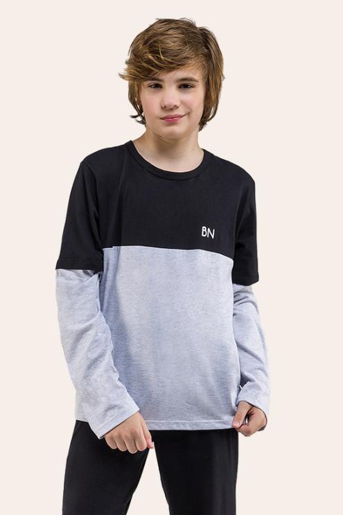 006/B - Pijama Juvenil Masculino Com Recorte