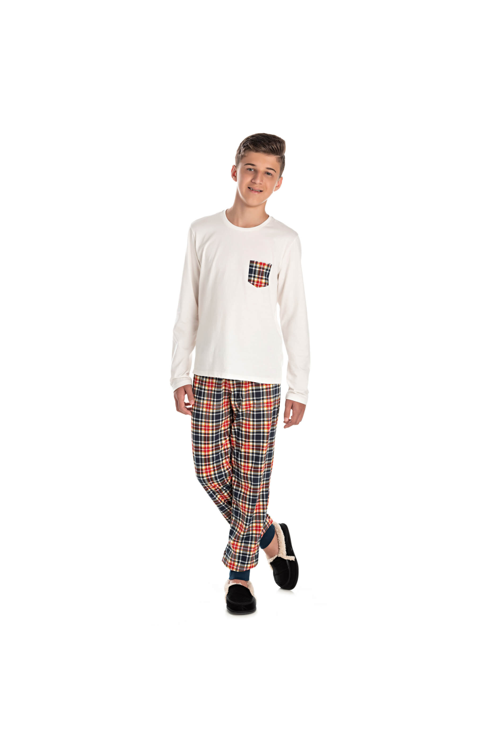 001/E - Pijama Juvenil Masculino Happy Family