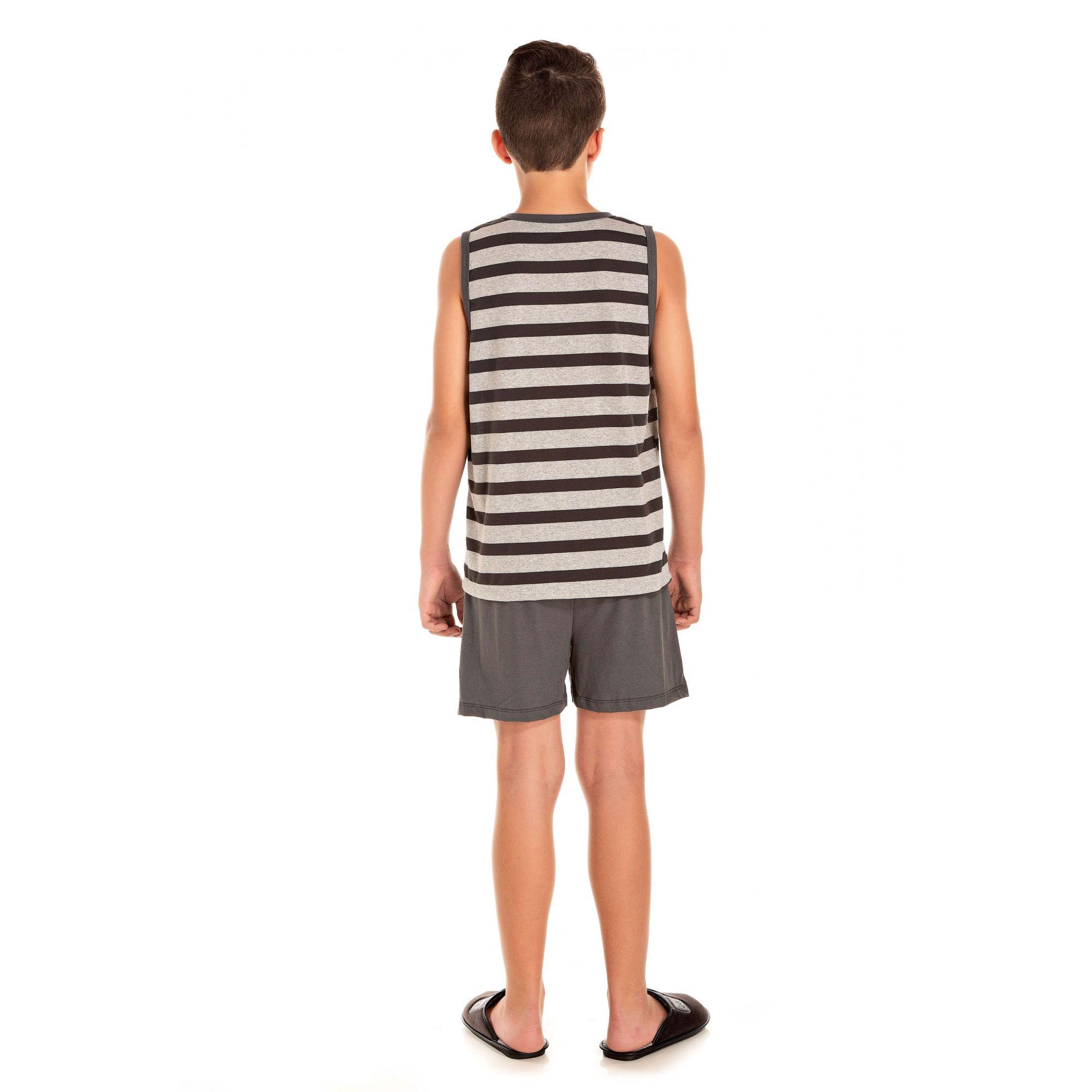 102/H - Pijama Juvenil Masculino Surf - Listrado