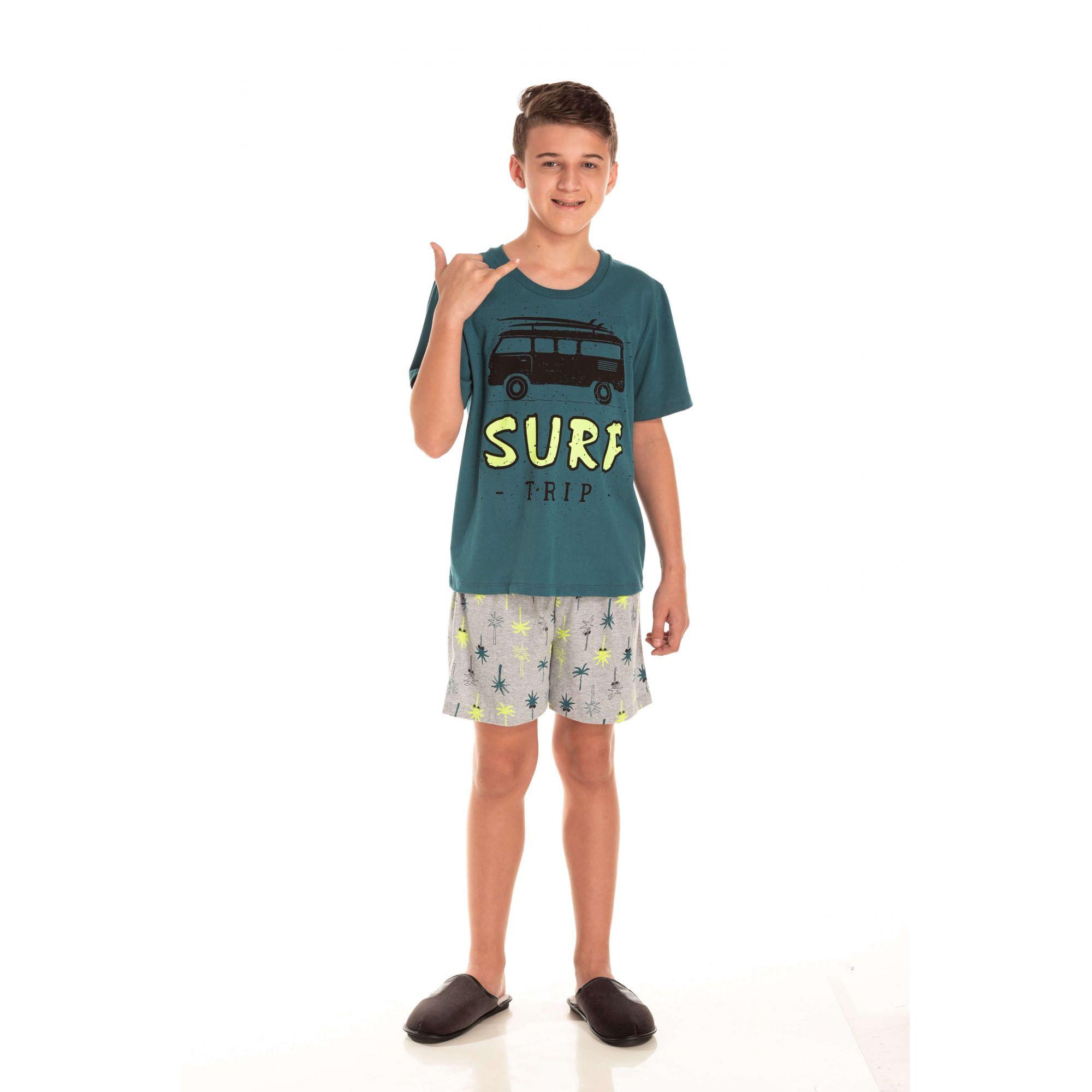 Pijama Juvenil Masculino Surf Trip
